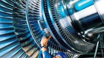 Preparação para limpeza de turbinas