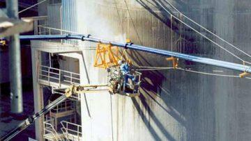 Lavagem de silos de cimento