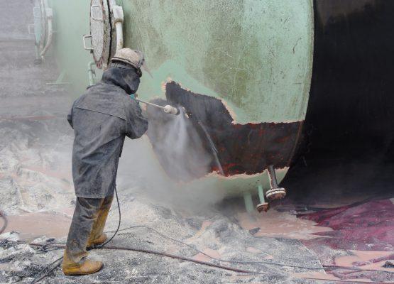Hidrodecapagem tanques de gás 2500 bar