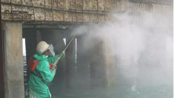 Hidrodemolição manual a 2500 bar